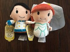 HALLMARK ITTY BITTYS WEDDING ARIEL PRINCE ERIC LIMITED EDITION PLUSH DISNEY