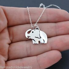 Elephant Necklace - 925 Sterling Silver - Zoo Safari Animal Charm Pendant NEW