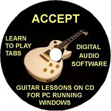 Accept 68 Guitar Tabs Software Lesson CD, 7 Backing Tracks & Free Bonuses
