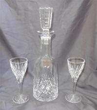 Rare Wine Decanter w/Cut Stopper Lismore by Waterford 2 Claret-Sherry Glasses
