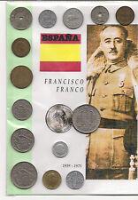 ESPAÑA, todas las monedas, excepto de las 100 pts., de la época de Franco