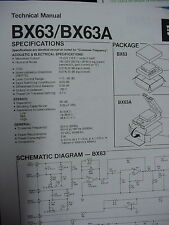 JBL BX63 & BX63A ELECTRONIC CROSSOVER TECHNICAL MANUAL 2 Pages