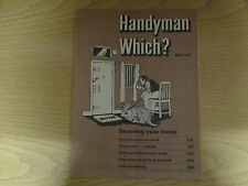 May 1977, HANDYMAN WHICH?, Home Security, Gloss Paint, D.I.Y Kitchen Units.
