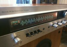 1970 Sherwood S-7100A AM/FM stereo receiver vintage silver face audio
