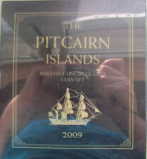"""Pitcairn Islands 2009 set of 6 coins """"5+10+20+50 cents +1+2 dollars"""" UNC Booklet"""
