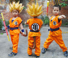 Japan anime Dragon Ball Z Child Kids Son GOKU Turtle Word Cosplay Party Costume