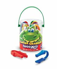 Learning Resources - 12 x Childrens Gator Grabber Plastic Tweezers (tub of 12)