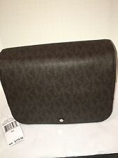 NEW Michael Kors Jet Set Travel MENS Hanging Toiletry Kit Bag BROWN