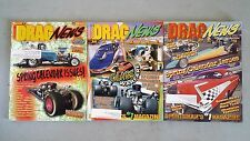 Lot of 3 Different Drag News Magazines 1997-2001 - NHRA - Midwest Drag Racing