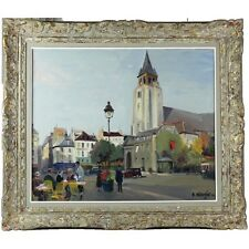 "Constantin Kluge (1912–2003) Oil on Canvas ""St Germain Des Pres"""