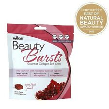 NeoCell Beauty Burst Fruit Punch 60 Soft chews Free Shipping EXP:03/2018