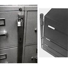New Locking Bar /4 Drawer Metal File Cabinet Office Locks Security Storage Safe