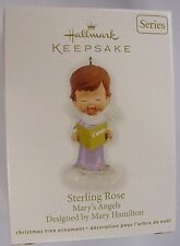 NIDB 2012 HALLMARK ORNAMENT STERLING ROSE 25th IN THE MARY'S ANGELS SERIES