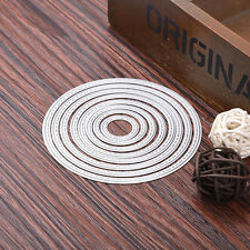 Oval 7x Set Metal Cutting Dies Stencil For Scrapbooking Paper Cards Decor Gifts