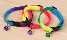 Adjustable Colourful Pet Small Dog Puppy Cat Kitten Collar With Bell 24-34CM New
