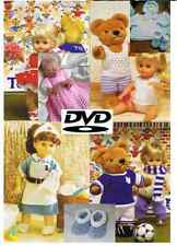 2000+ Knitting & Crochet Patterns 2 DVD Set Baby Toddler Childrens Doll Clothing