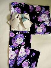 """Japanese kimono """"YUKATA""""  with TUKURI OBI, casual summer KIMONO 194-1"""