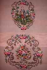 EP 9564/3 Vintage Floral 2pc Chair Seat Set Preworked Needlepoint Canvas
