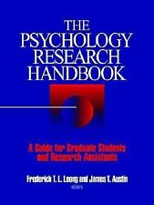 The Psychology Research Handbook: A Guide for Graduate Students and Research As