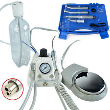 Dental Air Turbine Unit Compressor + High & Low Speed Handpiece Kit Free Gift