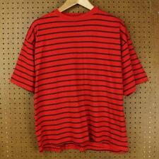 vtg 90s TODAYS NEWS t shirt LARGE red surfer stripes vaporwave grunge guess