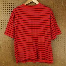 vtg 90s TODAYS NEWS t shirt LARGE red surfer stripes vaporwave grunge guess