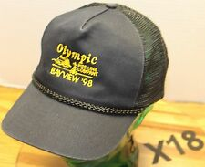 1998 OLYMPIC PIPE LINE COMPANY BAYVIEW HAT BLACK SNAPBACK VERY GOOD COND X18