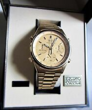 Vintage SEIKO QUARTZ CHRONOGRAPH WATCH 7A28 James Bond Style Very Nice 80's