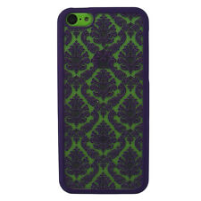 For iPhone 4 4s, 5 5s, 5c Damask VintageThin Back Clear Case Hard Cover + Screen
