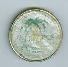 Sticker 1926 Peace Dollar The Tropics, Fresno, California, STICKER on Reverse