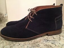 H By Hudson Ankle Boots Chukka Lace Up Casual Suede Dark Blue Navy 45 US 10-11
