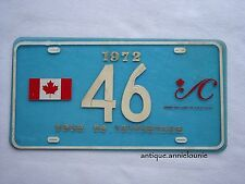 *1972 TOUR to YESTERYEAR Plastic Vintage License Plate # 46