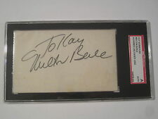 Milton Berle Legendary Comic Actor Signed Autographed Cut Signature SGC COA
