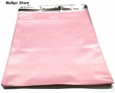 50 PALE LIGHT PINK COLOR POLY SHIPPING BAGS 12 x15.5 PLASTIC MAILER MAILING BAGS