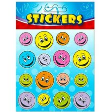 JOB LOT ~ 6 x 16 SMILEY HAPPY FACE STICKERS ~ PARTY BAGS TEACHERS MARKING AID