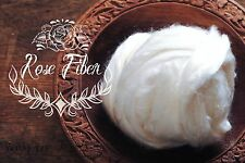 ROSE FIBER  Undyed Combed Top Cellulose Vegan For Spinning Felting Carding 2 oz
