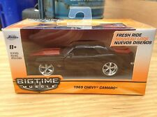 Jada Big Time Muscle '69 SS Camaro 1/43 *Black Beauty* RARE