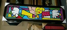 The hug by Romero Britto 64x18 framed latest edition W Texture