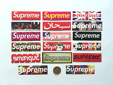 Total of 17 One Pack Mix Supreme Classic Box Vinyl Stickers PVC Decal Label Logo