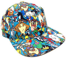 LOONEY TUNES ALL OVER PRINT SUBLIMATED SNAPBACK HAT CAP GROUP PHOTO SPACE JAM