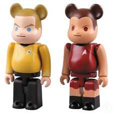 Medicom Toy Be@brick Star Trek Kirk and Uhura 100% Set Bearbrick | SCARCE TOYS