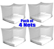 4x TravelMAX Mosquito Nets Double Queen King Size Box Insect Netting Treated