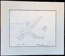 Sword in the Stone WART 1963 drawing Signed by Frank and Ollie DISNEY 2*