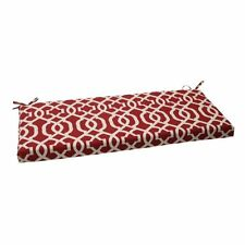Pillow Perfect Indoor/Outdoor New Geo Bench Cushion, Red New