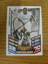 2012/2013 Autograph: Swansea City - Dyer, Nathan [Hand Signed 'Topps Match Attax