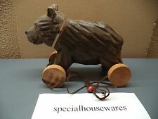 Wholesale Ducks or Bears on Wheels Wood Pull Toys New with Antique Look NIB Deal