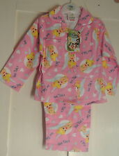 New girls Disney Fairies 100% cotton flannelette pajamas pink  18-24 months