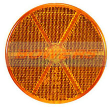 SIDE AMBER ORANGE ROUND STICK ON ADHESIVE REFLECTOR 85mm TRUCK TRAILER CARAVAN