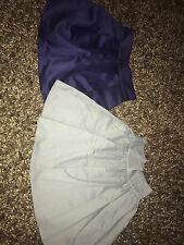 Grey H&M skirt and purple H&M preloved skirts
