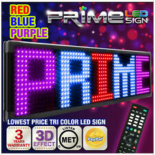 "Red Blue Purple 26mm 53""x19"" New Programmable LED Sign Scrolling Message Display"